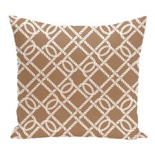 Hancock Know the Ropes Geometric Outdoor Throw Pillow