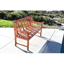 Best Choices Bucksport Eco-friendly 5' Outdoor Hardwood Garden Bench