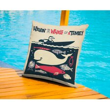 Bradley Having A Whale Of A Time Outdoor Throw Pillow