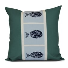 Bartow Fish Chips Outdoor Throw Pillow