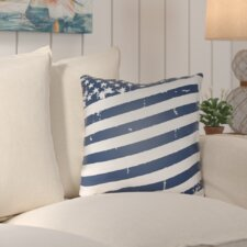 Saratoga Americana III Indoor/Outdoor Throw Pillow