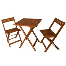 Chatterly 3 Piece Outdoor Square Bistro Set
