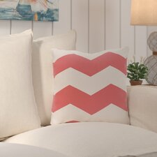 Shrewsbury Chevron Stripes Geometric Outdoor Throw Pillow