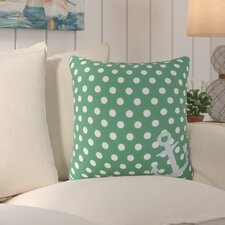 Orchid Anchored in Polka Dots Outdoor Throw Pillow