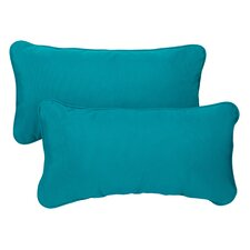 Travis Indoor/Outdoor Sunbrella Lumbar Pillow (Set of 2)