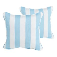 Federalsburg Corded Stripe Indoor/Outdoor Throw PIllow (Set of 2)