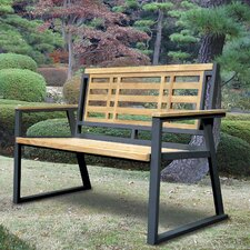 California Room Aegean Teak and Iron Park Bench