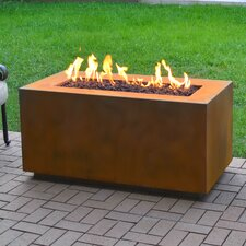 Corten Steel Propane Fire Pit Table