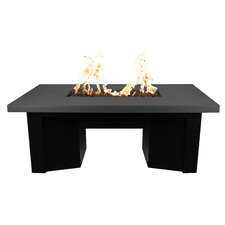 Saleen Concrete Propane Fire Pit Table