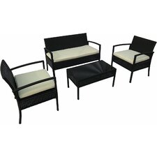 Bargain Linosa 4 Piece Deep Seating Group with Cushion