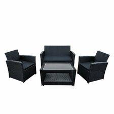 Lipari 4 Piece Deep Seating Group with Cushion
