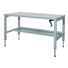 Basic Hydraulic Adjustable Height Steel Top Workbench