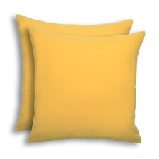 Bargain Dyed Solid Outdoor Throw Pillow (Set of 2)