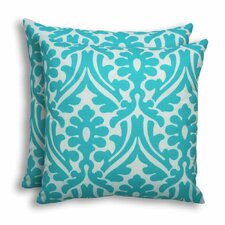 Holly Ocean Outdoor S-Backed Throw Pillow (Set of 2)