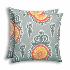 Michelle Citrus Outdoor Throw Pillow (Set of 2)