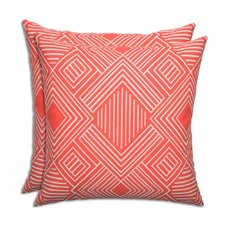 Phase Indian Coral Outdoor Throw Pillow (Set of 2)