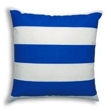 Vertical Cobalt Outdoor Throw Pillow