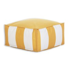 Cabana Citrus Indoor/Outdoor Seamed Beads Hassock Ottoman