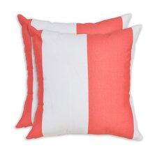 #1 Cabana Indian Outdoor Fiber Throw Pillow (Set of 2)