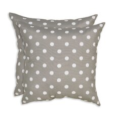 Ikat Dots Indoor/Outdoor Fiber Throw Pillow (Set of 2)
