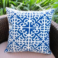 Classic Garden Maze Modern Contemporary Geometric Indoor/Outdoor Pillow Cover (Set of 2)