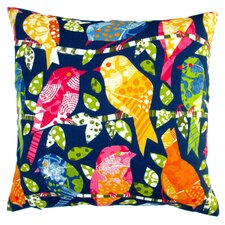 Kids Animals Colorful Birds Indoor/Outdoor Throw Pillow (Set of 2)