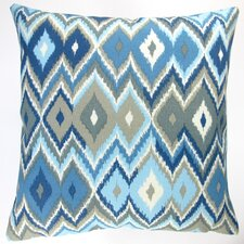 Lake Geometric Modern Contemporary Indoor/Outdoor Pillow Cover (Set of 2)