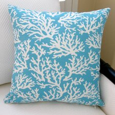Coral in Pastel Beach House Modern Indoor/Outdoor Pillow Cover (Set of 2)