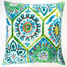 Modern Abstract Geometric Caribbean Beach Indoor/Outdoor Throw Pillow (Set of 2)