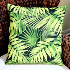 Tropical Fronds in Modern Coastal Beach Hawaiian Indoor/Outdoor Throw Pillow (Set of 2)