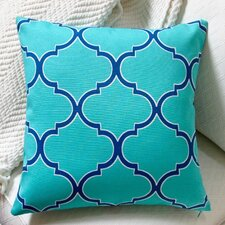 Modern Coastal Geometric Indoor/Outdoor Throw Pillow (Set of 2)