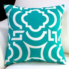 Modern Geometric Coastal Indoor/Outdoor Throw Pillow (Set of 2)