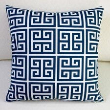 Modern Greek Key Modern Outdoor Throw Pillow (Set of 2)
