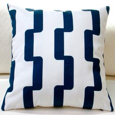 Rhyme Stripe Modern Geometric Indoor/Outdoor Pillow Cover (Set of 2)