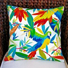Kid's Colorful Tropical Hawaiian Birds Indoor/Outdoor Throw Pillow (Set of 2)
