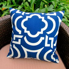 Geometric Coastal Beach House Modern Indoor/Outdoor Throw Pillow (Set of 2)