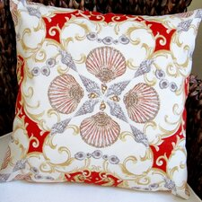 Seashell Seahorse Beach House Indoor/Outdoor Throw Pillow (Set of 2)