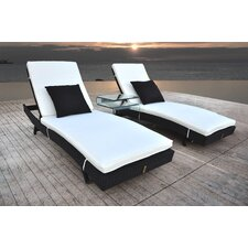 Zori 3 Piece Chaise Lounge Set