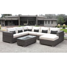 Lusso 7 Piece Sectional Seating Group with Cushion
