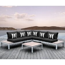 Today Only Sale Pulito 4 Piece Deep Seating Group with Cushion