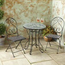 Drumnafivey New Mosaic 3 Piece Bistro Set