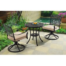 Alfson 3 Piece Bistro Set with Cushions