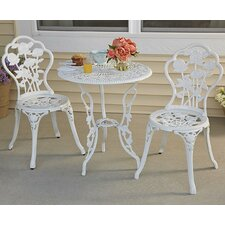 Fienley Rose Garden 3 Piece Bistro Set