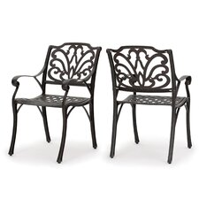 Loughguile Outdoor Dining Arm Chair (Set of 2)