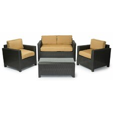 Great Reviews George 4 Piece Seating Group with Cushions