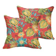 Hiawatha Beach Corded Floral Indoor/Outdoor Throw Pillow (Set of 2)