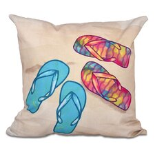 Good stores for Haiti Beach Shoes Geometric Print Outdoor Throw Pillow