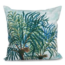 Haiti Palms Floral Print Outdoor Throw Pillow