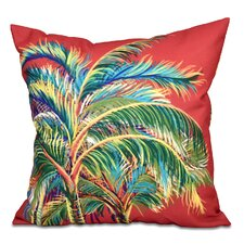Pinkfringe Floral Print Outdoor Throw Pillow