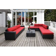 Scholtz Conversation Sectional 8 Piece Deep Seating Group with Cushion